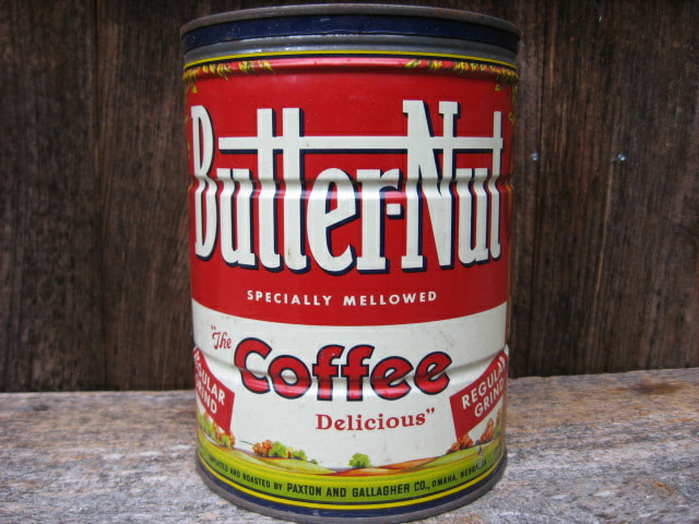 Vintage Butter-Nut Coffee Tin