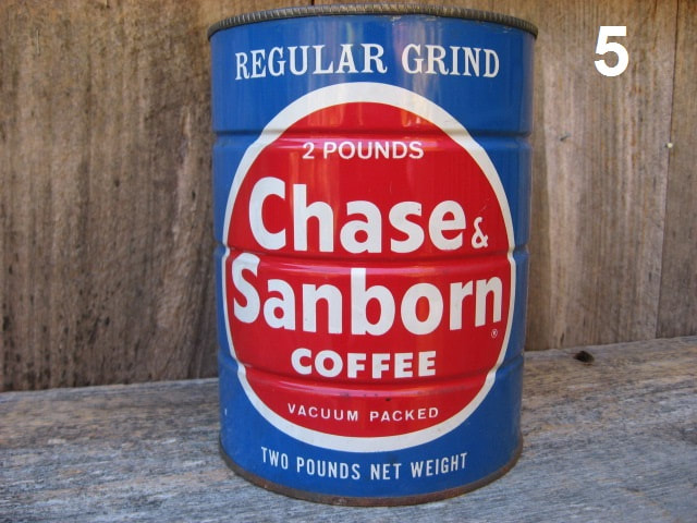Chase & Sanborn Coffee Tins