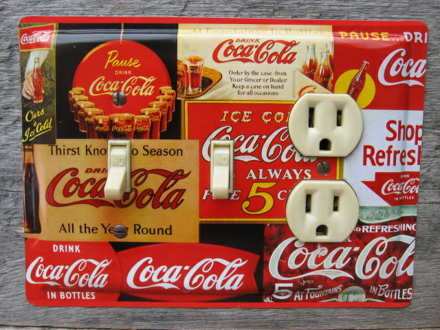 Unique Switch Plates Made From Coke Tins