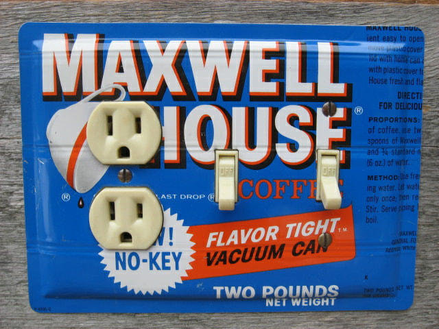 Unique Switch Plates Made From Maxwell House Coffee Tins
