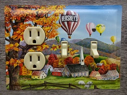 Switch Plate Made From A Hershey Chocolate Tin