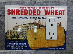 Unique Switch Plates Made From Shredded Wheat Tins