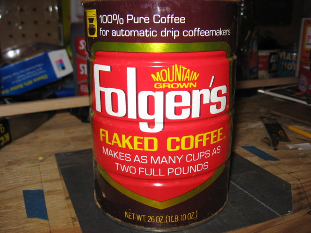 Folgers Flaked Coffee Tin