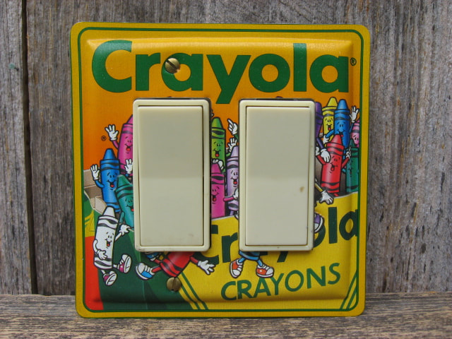 Unique Rocker Switch Plates Made From Crayola Tins