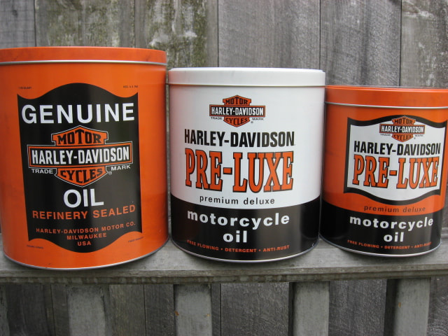 Motorcycle Oil Tins