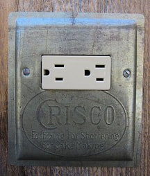 Unique Horizontal GFCI Cover Made From A Vintage Crisco Baking Pan