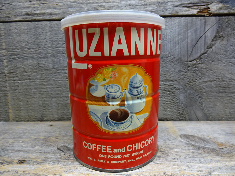 Vintage Red Luzianne Coffee Tin