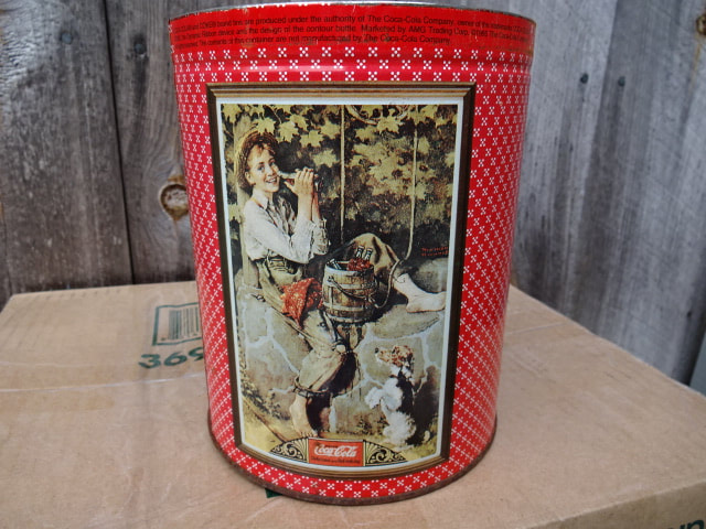 Coke Tins With Norman Rockwell Art